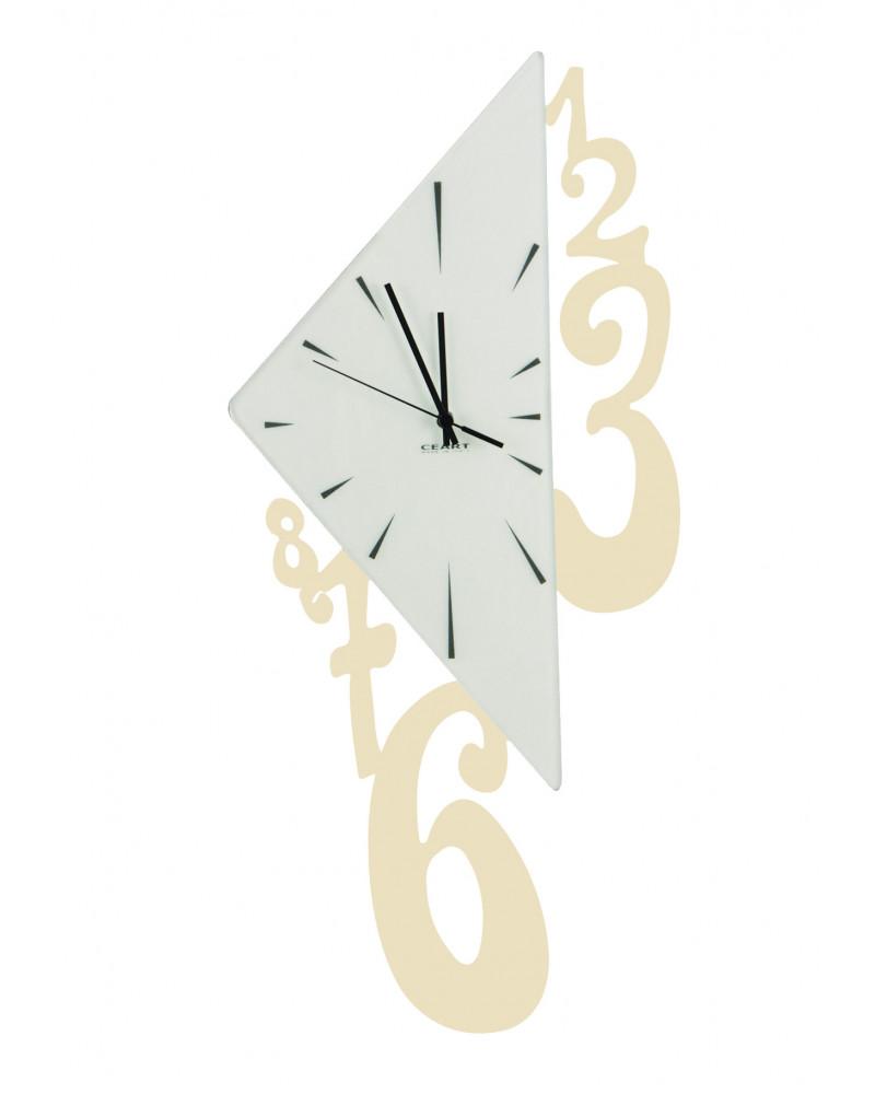 Orologio da parete Triangolo colore avorio