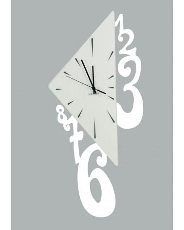 Orologio da parete Triangolo colore bianco