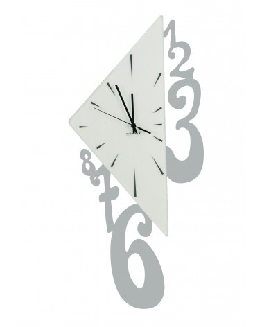 Orologio da parete Triangolo colore argento