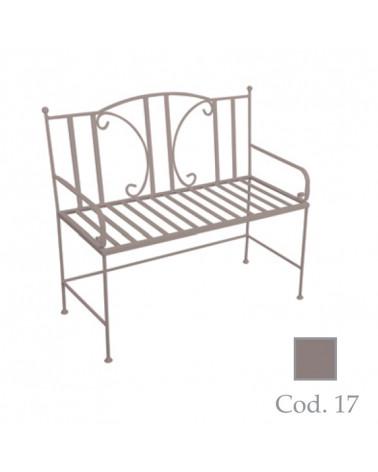 Panchina da giardino in ferro battuto colore  tortora