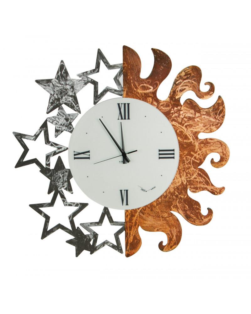 orologio da parete particolare Sole e Stelle bicolore