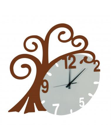 nuovo orologio da parete Albero vita colore corten