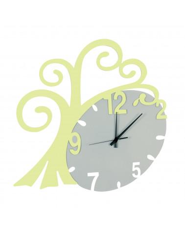 nuovo orologio da parete Albero vita colore verde mela
