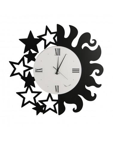 orologio da parete particolare Sole e Stelle colore nero