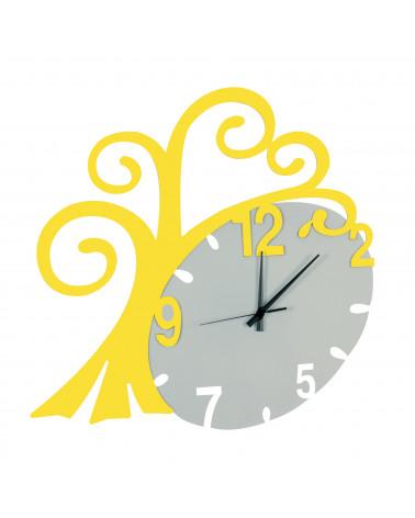 nuovo orologio da parete Albero vita colore giallo