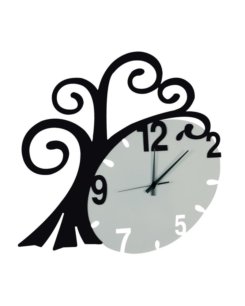 nuovo orologio da parete Albero vita colore nero