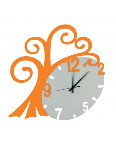 nuovo orologio da parete Albero vita colore arancio