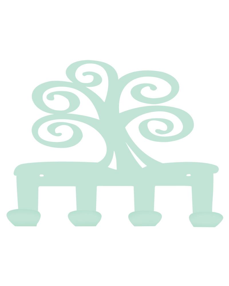 appendiabiti da parete albero della vita colore tiffany