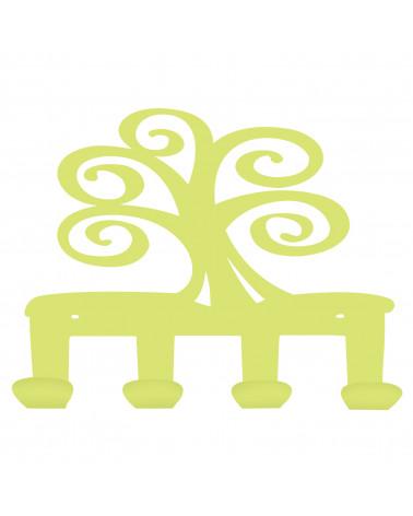appendiabiti da parete albero della vita colore verde mela