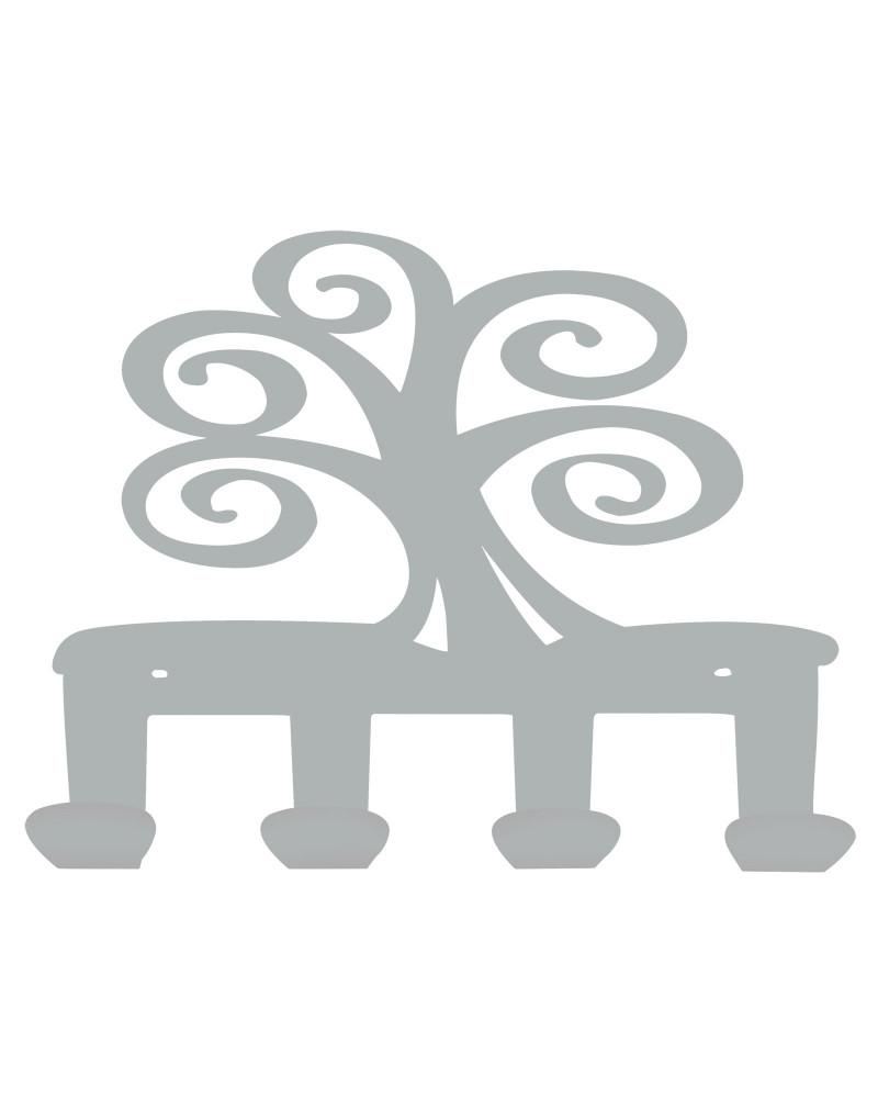 appendiabiti da parete albero della vita colore argento
