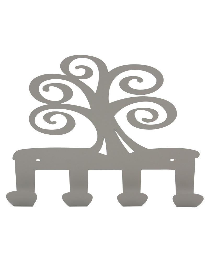 appendiabiti da parete albero della vita colore tortora