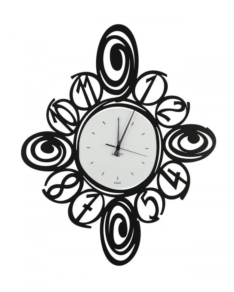 orologio da parete moderno modello Spirali colore nero