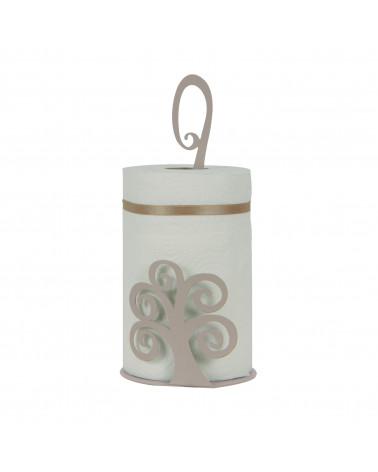 Porta Scottex Albero della Vita in metallo colore tortora