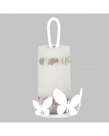 Porta Scottex Farfalla in metallo colore bianco
