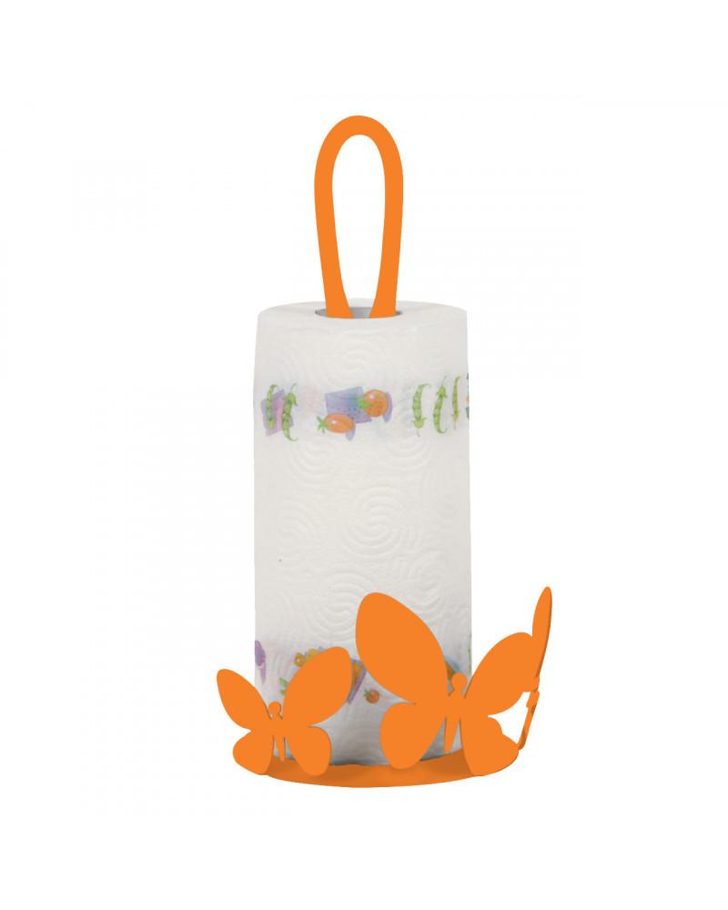 Porta Scottex Farfalla in metallo colore arancione