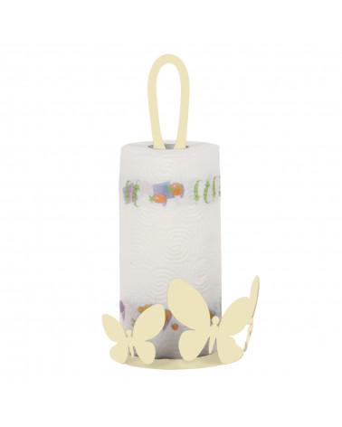 Porta Scottex Farfalla in metallo colore avorio