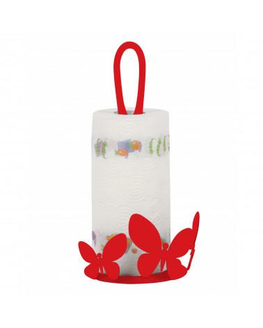 Porta Scottex Farfalla in metallo colore rosso