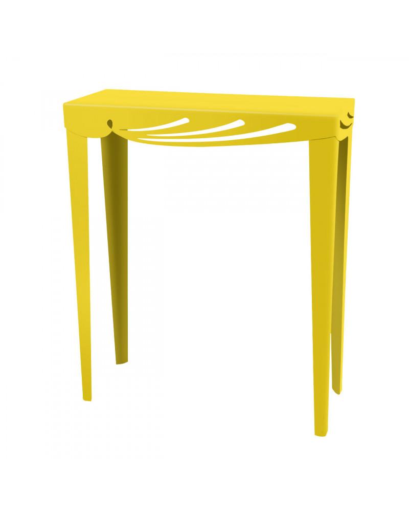 consolle ingresso design moderno colore giallo