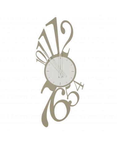 orologio da parete Armonia numeri grandi colore tortora