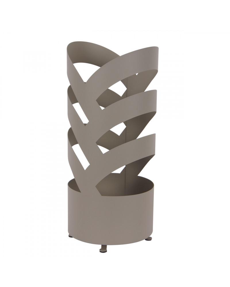 Portaombrelli design in metallo Archi colore tortora