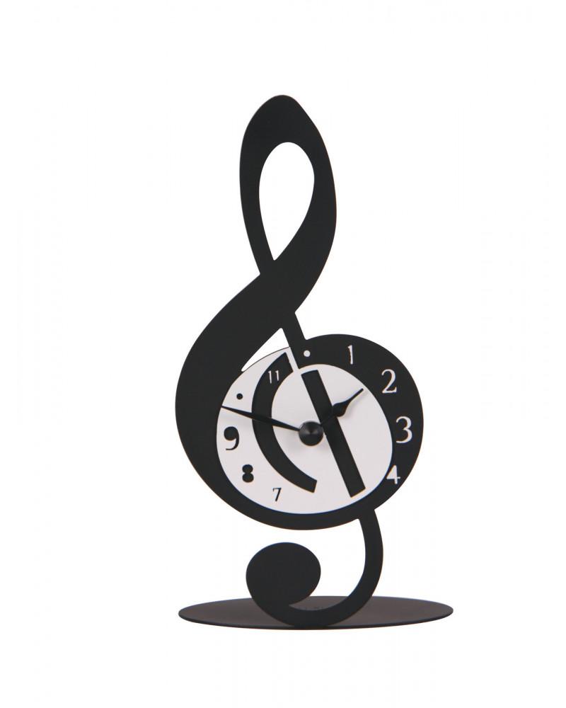 orologio da tavolo particolare Violino nota musicale colore nero