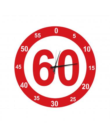 Orologio da parete moderno Velocità colore rosso