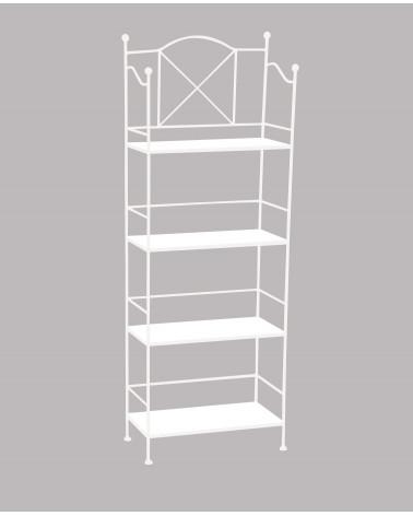 etagere in ferro battuto altezza 147 cm colore bianco