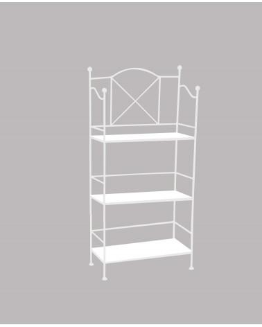 etagere in ferro 3 ripiani altezza 114 cm colore bianco