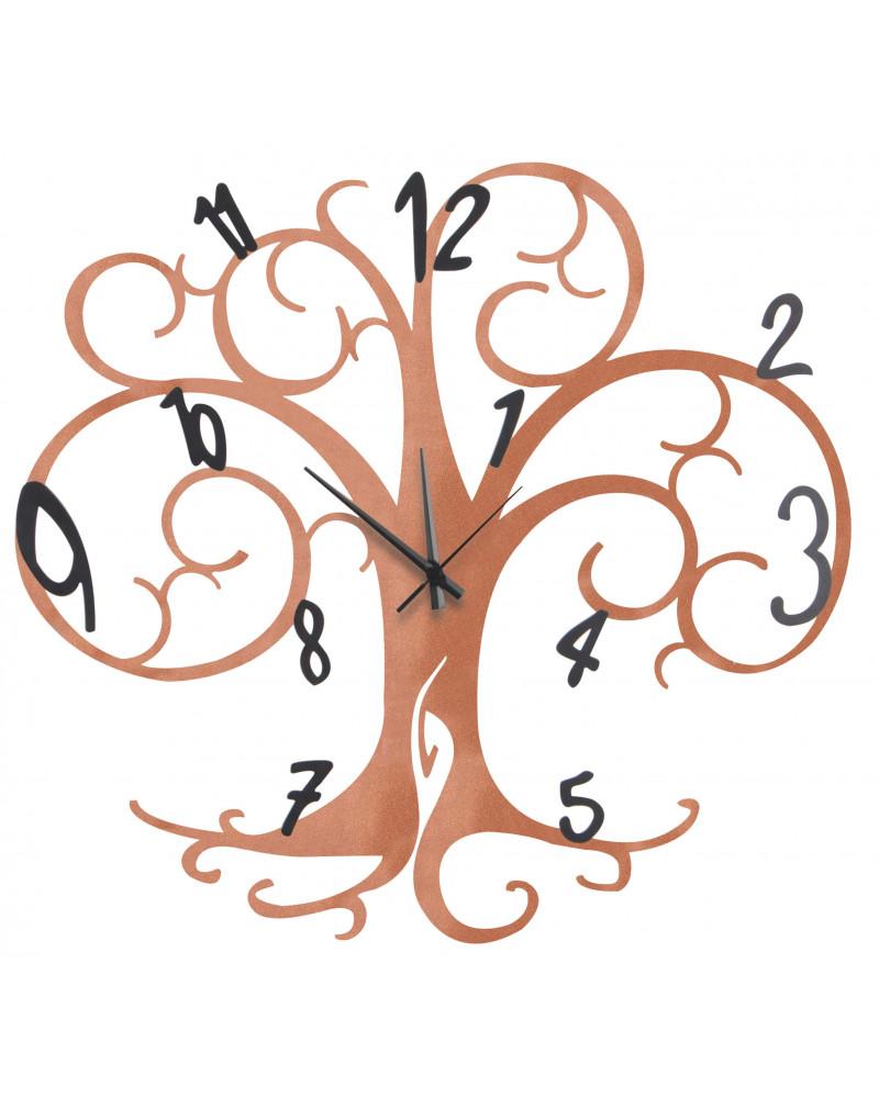 Orologio da parete Albero della vita BIG colore rame