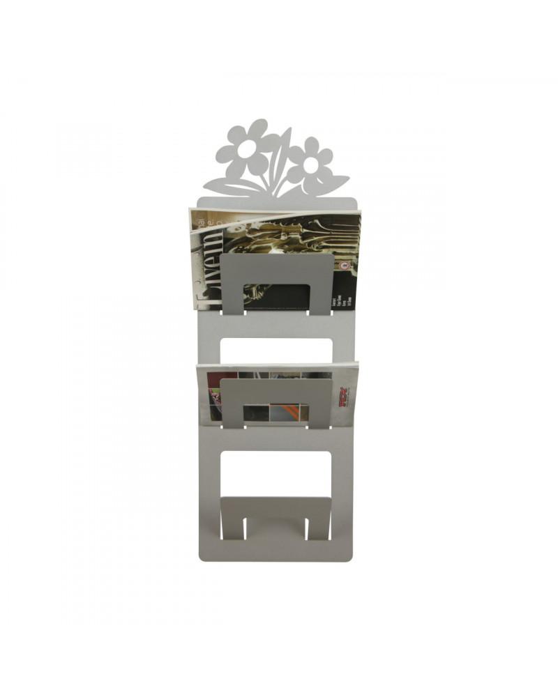 Portariviste da parete Fiorito colore argento