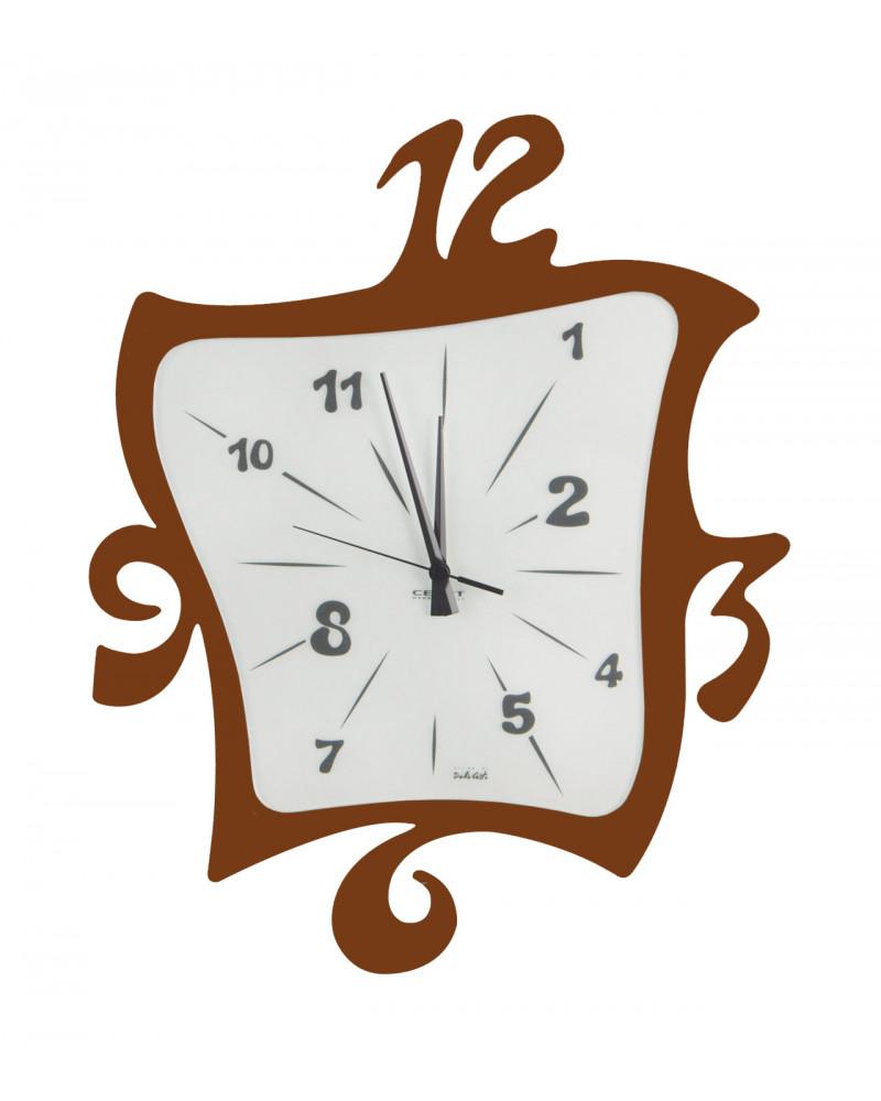 Orologio parete design Quadro COLORE CORTEN
