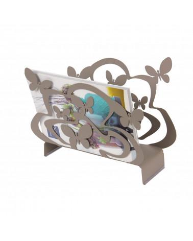 Portariviste design Farfalle colore tortora