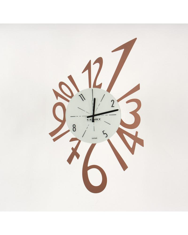 Orologio da parete Numerico grande colore rame
