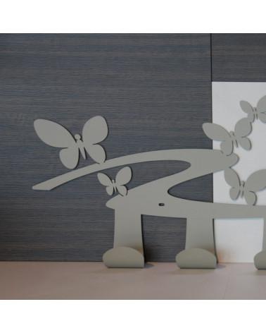 particolare Appendiabiti Farfalle da parete 4 ganci
