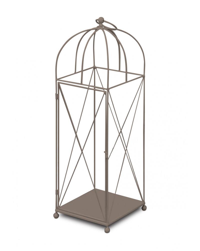 lanterna in ferro battuto altezza 98 cm