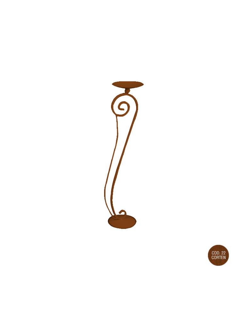 Candeliere barocco in ferro piccolo h 96 cm