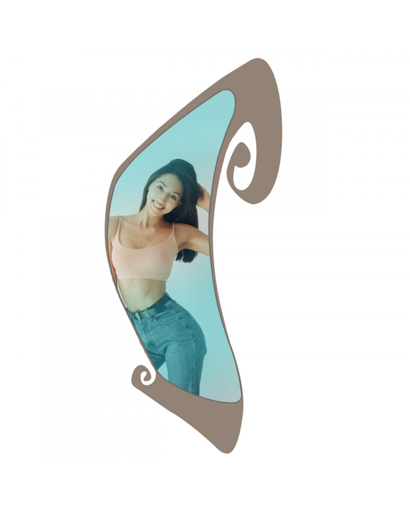 Specchio Pergamena in metallo