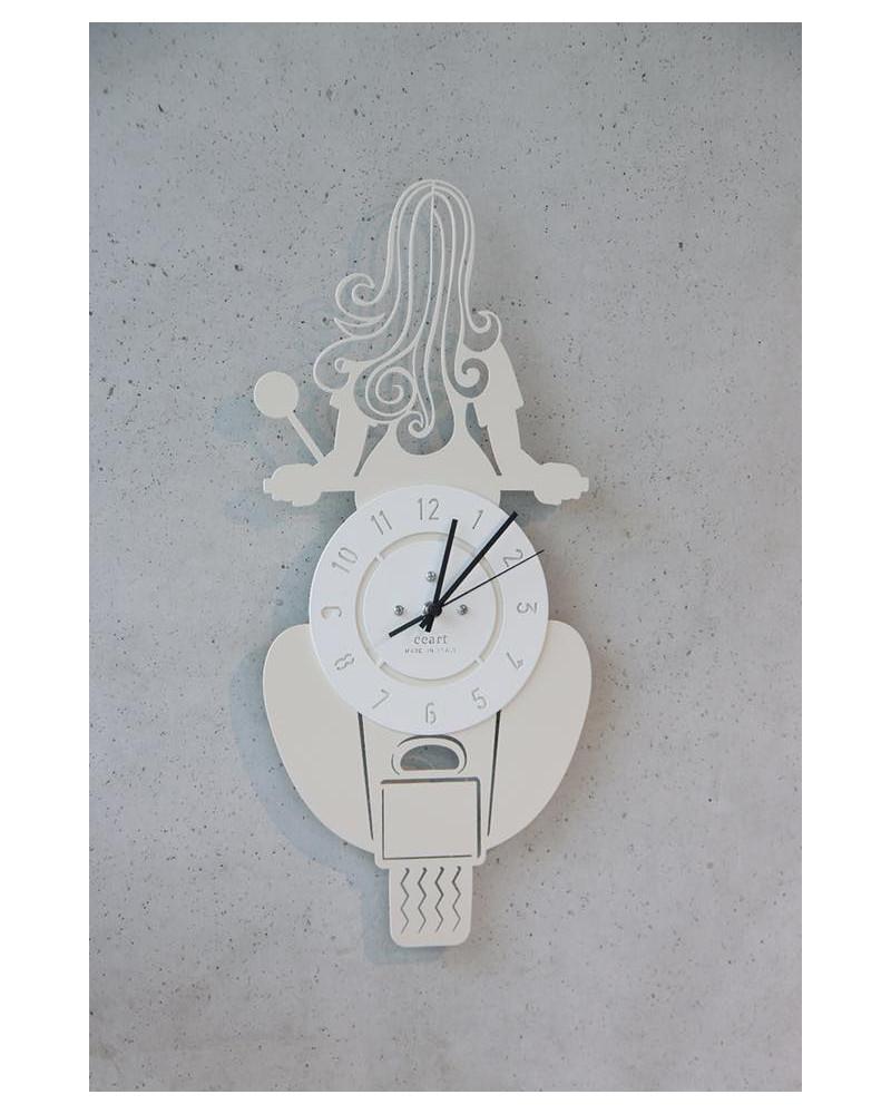 orologio da parete particolare vespa colore avorio