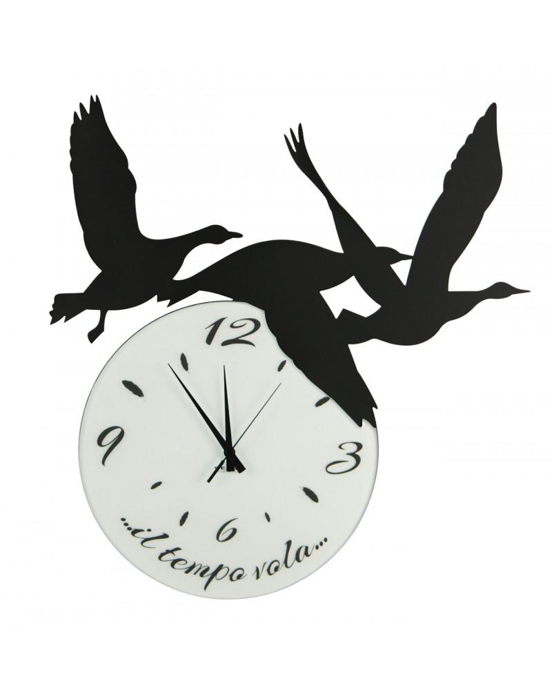 orologio di parete particolare Volare colore nero