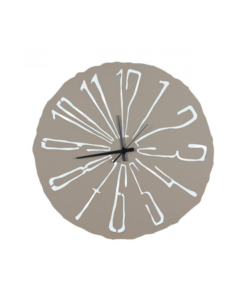 Orologio da parete Specchiato colore tortora