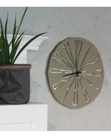 Orologio da parete Specchiato foto ambientata colore tortora
