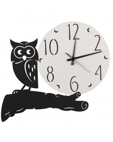 orologio parete moderno gufo colore nero