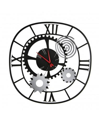 orologio da parete moderno ingranaggio colore nero