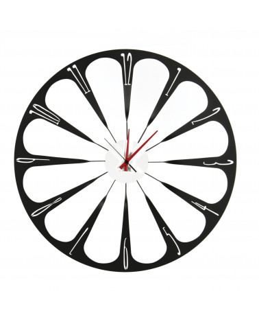 orologio da parete raggi colore nero