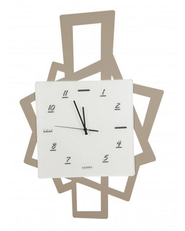 Orologio da parete moderno Quadri in metallo colore tortora