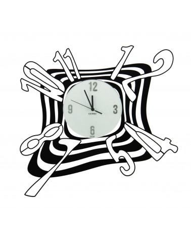 Orologio da parete particolare Scirocco colore nero