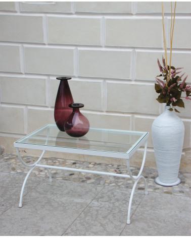 foto Tavolino in ferro basso con vetro