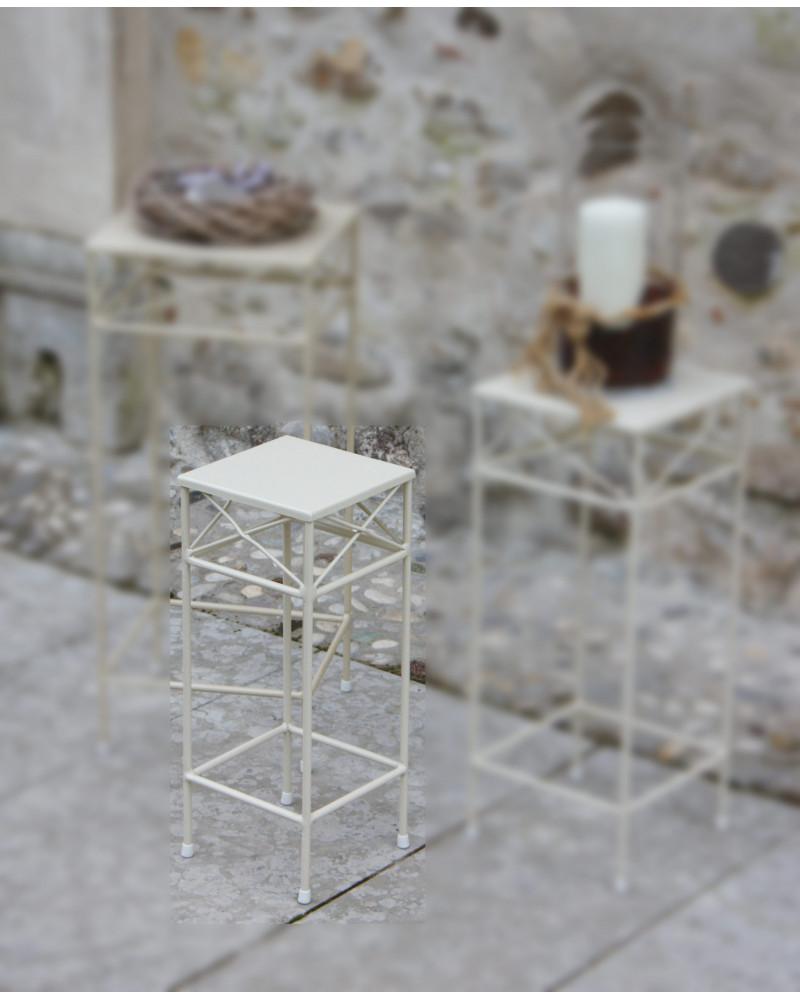 Tavolino in ferro battuto quadrato 21 x 21 con intreccio