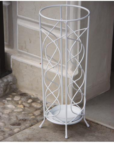 Portaombrelli Ferro Battuto Bianco.Porta Ombrelli Rotondo In Ferro