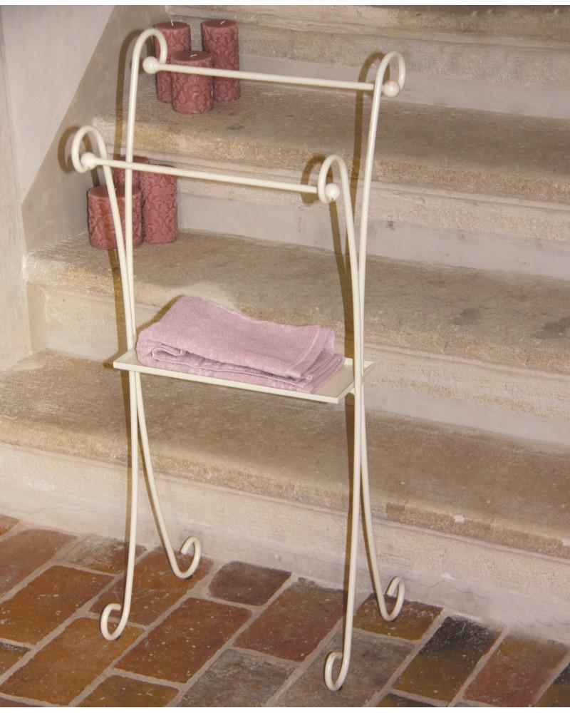 Porta Asciugamani In Ferro Con Ripiano